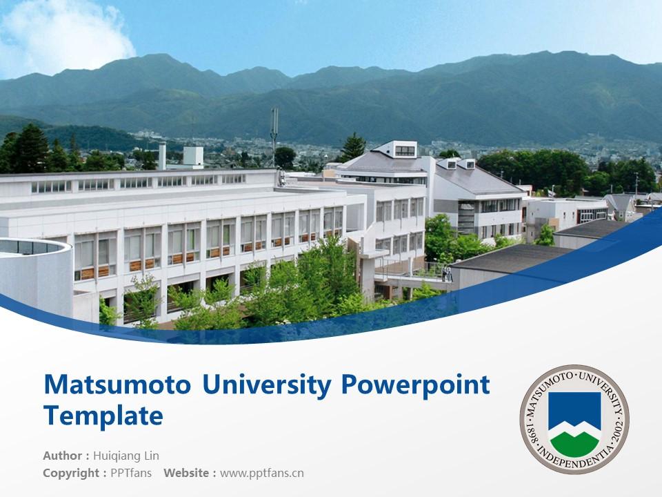 Matsumoto University Powerpoint Template Download | 松本大学PPT模板下载_幻灯片1