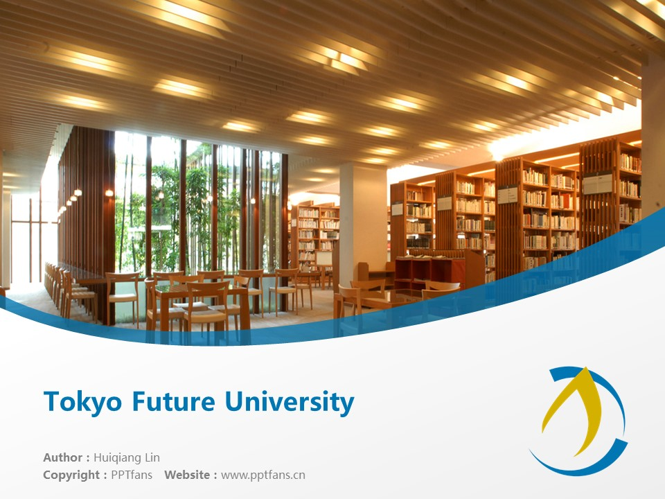 Tokyo Future University Powerpoint Template Download | 东京未来大学PPT模板下载_slide1