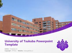 University of Tsukuba Powerpoint Template Download | 日本筑波大学PPT模板下载
