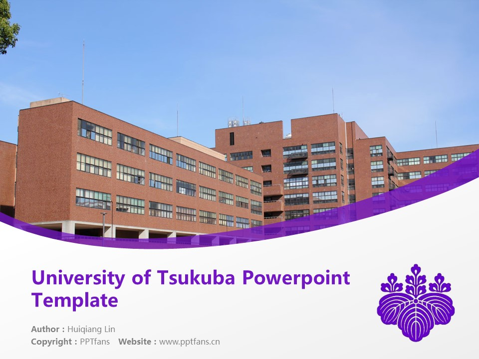 University of Tsukuba Powerpoint Template Download | 日本筑波大学PPT模板下载_slide1