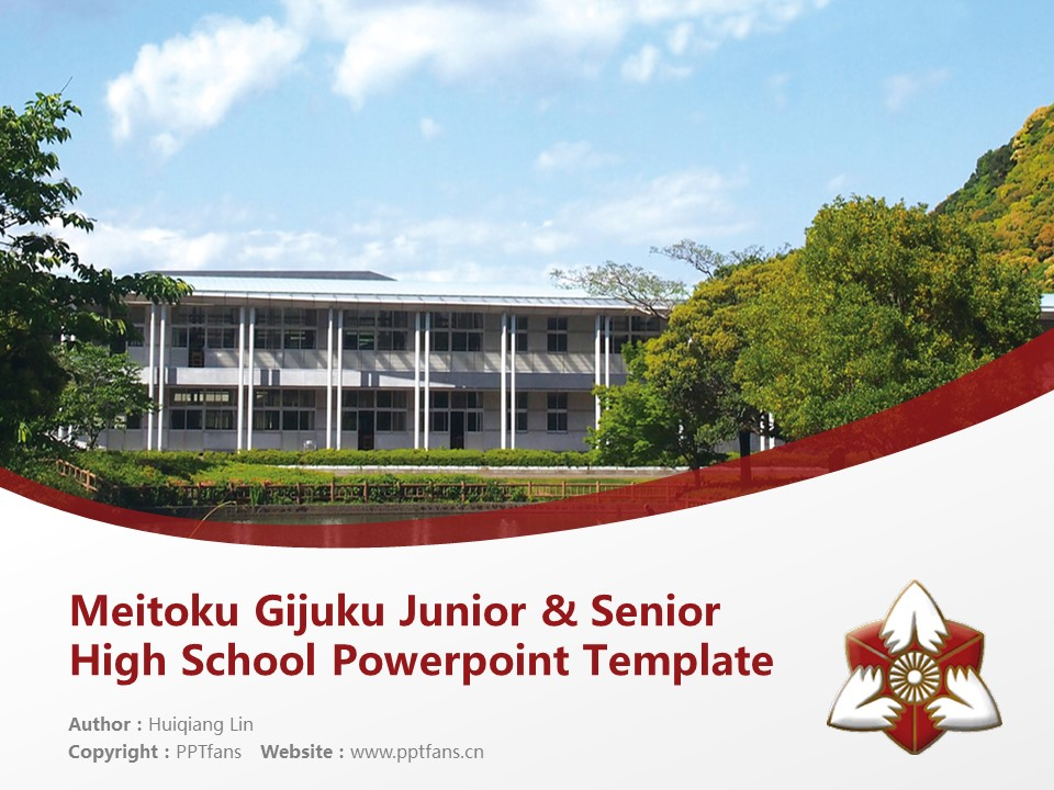 Meitoku Gijuku Junior & Senior High School Powerpoint Template Download | 明德义塾高等学校PPT模板下载_slide1