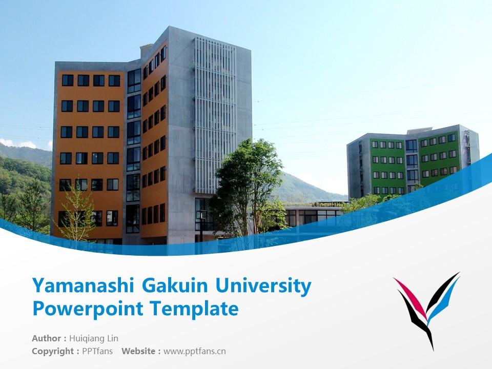 Yamanashi Gakuin University Powerpoint Template Download | 山梨学院大学PPT模板下载_幻灯片1