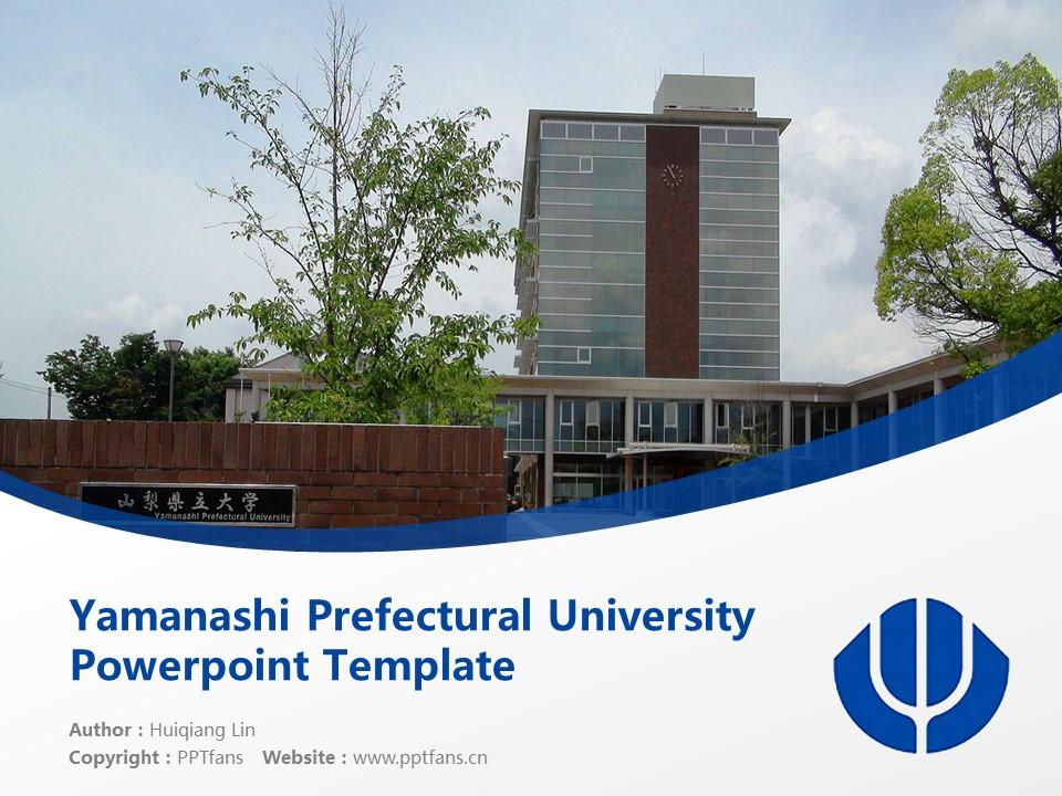 Yamanashi Prefectural University Powerpoint Template Download | 山梨县立看护大学PPT模板下载_slide1