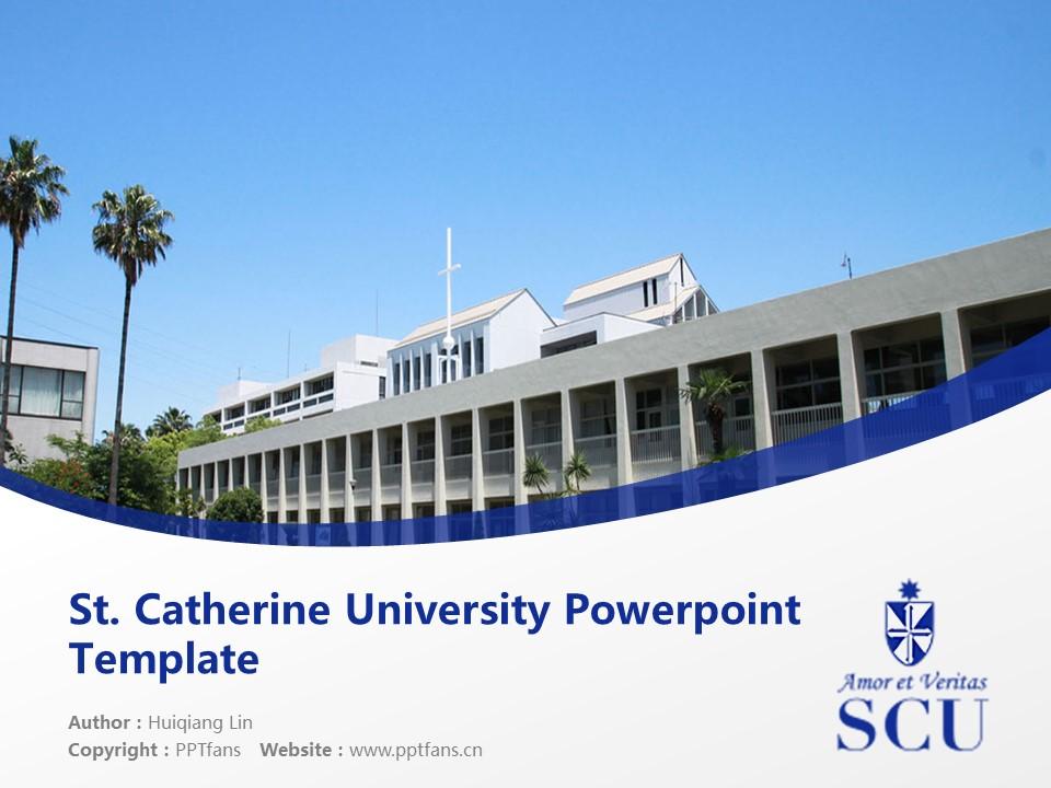 St. Catherine University Powerpoint Template Download | 圣卡塔利娜女子大学PPT模板下载_slide1
