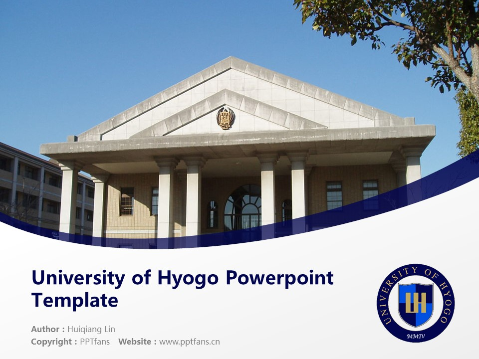 University of Hyogo Powerpoint Template Download | 兵库县立大学PPT模板下载_slide1