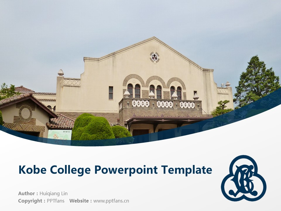 Kobe College Powerpoint Template Download | 神户女学院大学PPT模板下载_幻灯片1