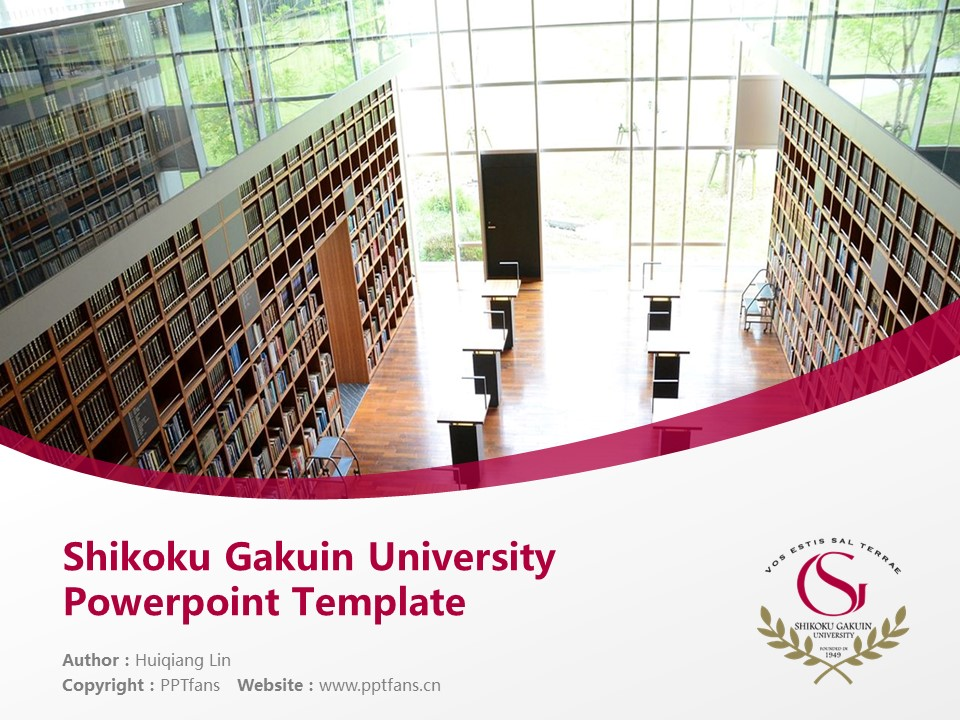 Shikoku Gakuin University Powerpoint Template Download | 四国学院大学PPT模板下载_slide1