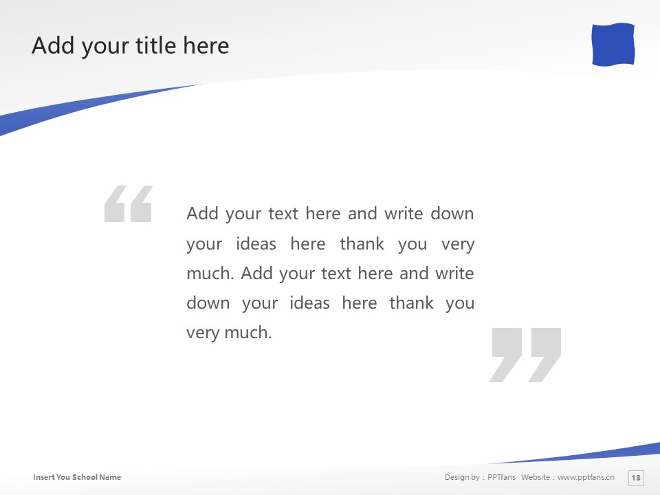 Shizuoka University of Art and Culture Powerpoint Template Download | 静冈文化艺术大学PPT模板下载_slide13