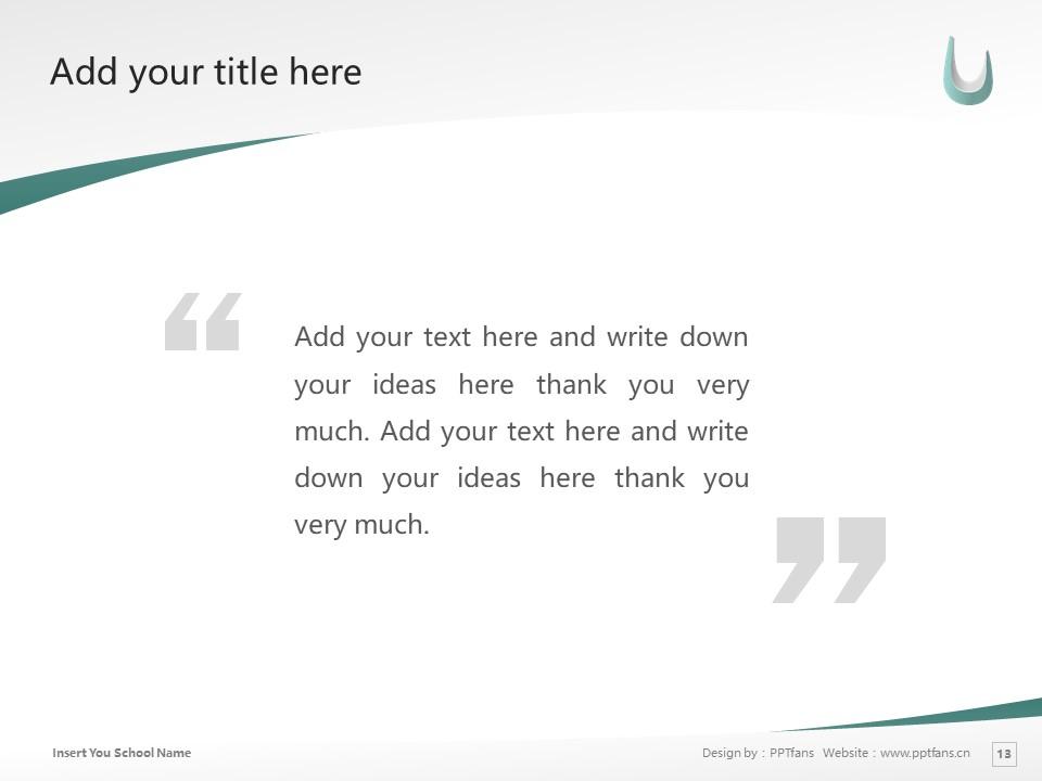 Kaisei Gakuen Colledes Powerpoint Template Download | 郡山女子大学PPT模板下载_slide13