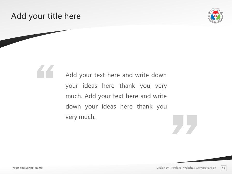 Seirei Christopher University Powerpoint Template Download | 圣隷克里斯多佛看护大学PPT模板下载_slide13