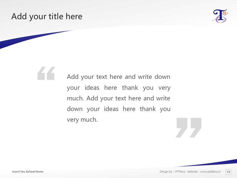 Tokyo Seiei College Powerpoint Template Download | 东京圣荣大学PPT模板下载_slide13