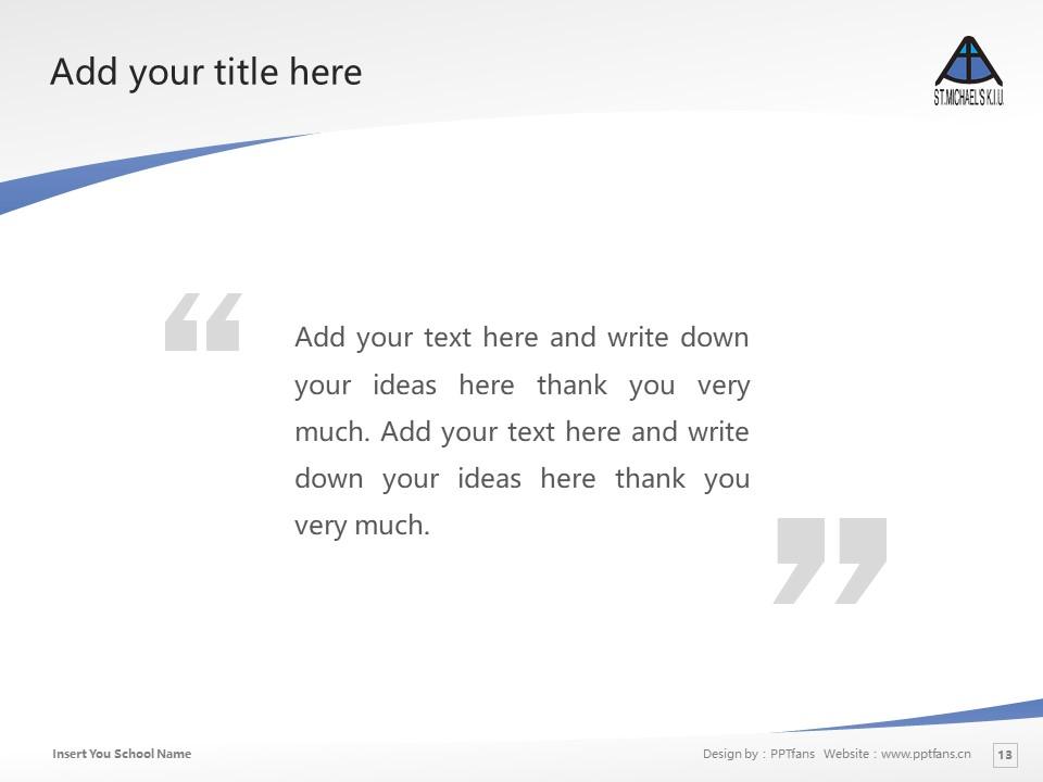 Kobe International University Powerpoint Template Download | 神户国际大学PPT模板下载_slide13