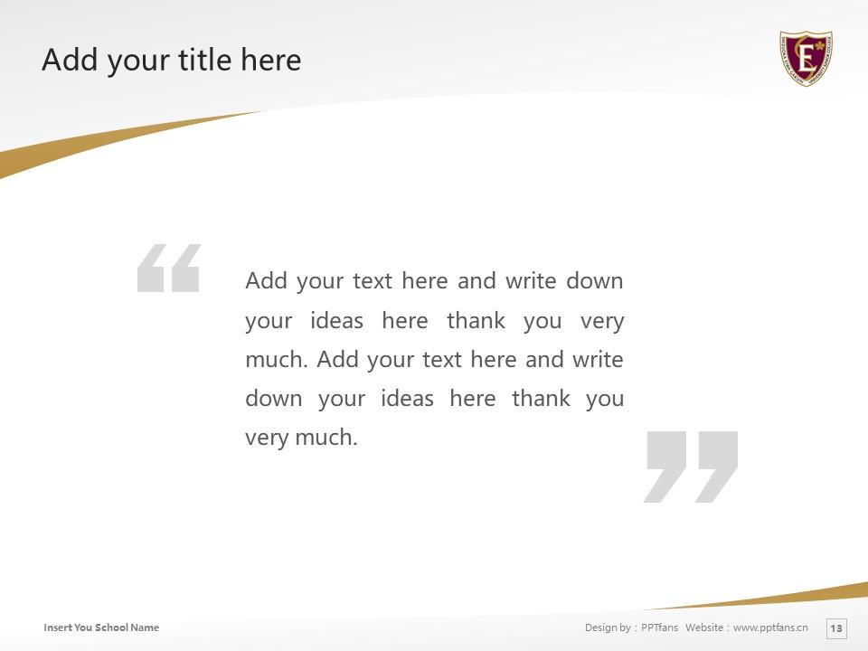 Shizuoka Eiwa Gakuin University Powerpoint Template Download | 静冈英和学院大学PPT模板下载_slide13