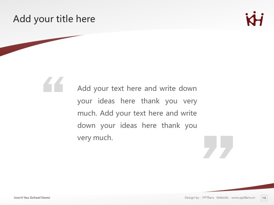 University of KinDAI Himeji Powerpoint Template Download   近大姬路大学PPT模板下载_slide13