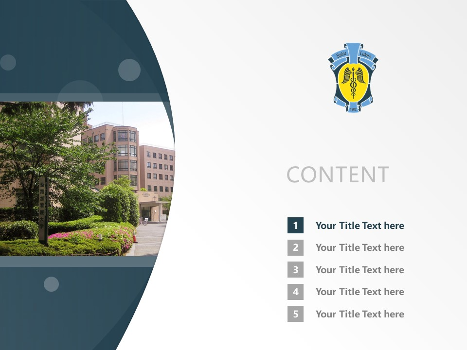 St. Luke's College of Nursing Powerpoint Template Download | 圣路加看护大学PPT模板下载_幻灯片2