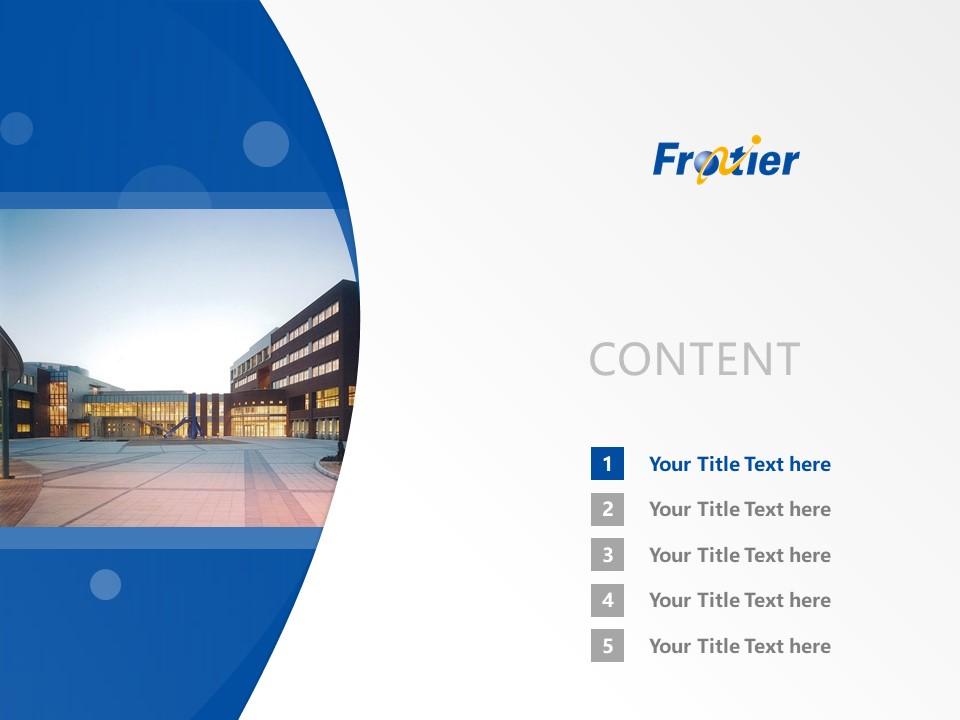 Ube Frontier University Powerpoint Template Download | 宇部开拓大学PPT模板下载_slide2
