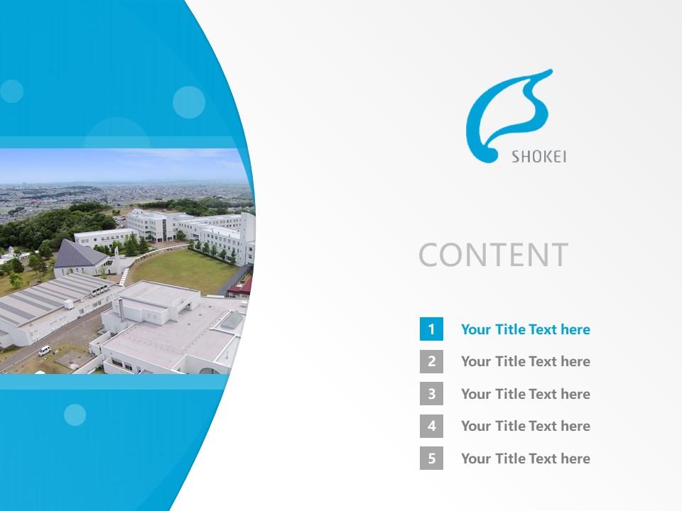 Shokei Gakuin University Powerpoint Template Download   尚絅大学PPT模板下载_slide2