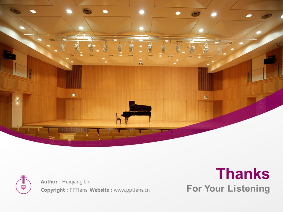 Nagoya College of Music Powerpoint Template Download | 名古屋音乐大学PPT模板下载_slide19