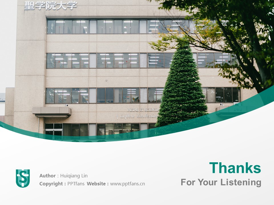 Seigakuin University Powerpoint Template Download | 圣学院大学PPT模板下载_slide19
