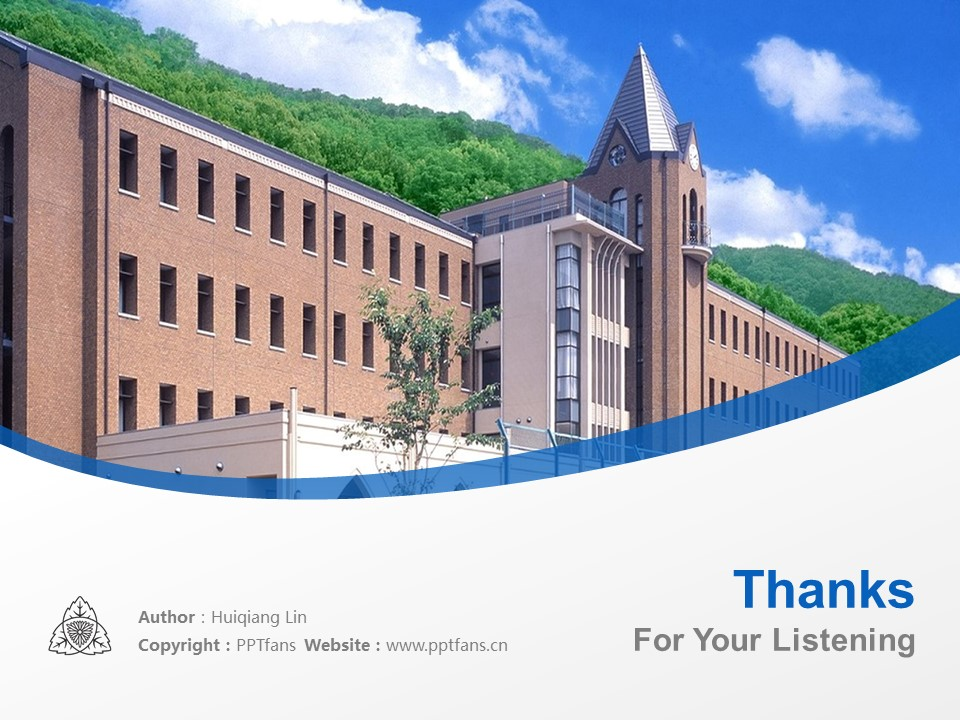 Shijonawate Gakuen University Powerpoint Template Download | 四条裰学园大学PPT模板下载_slide19
