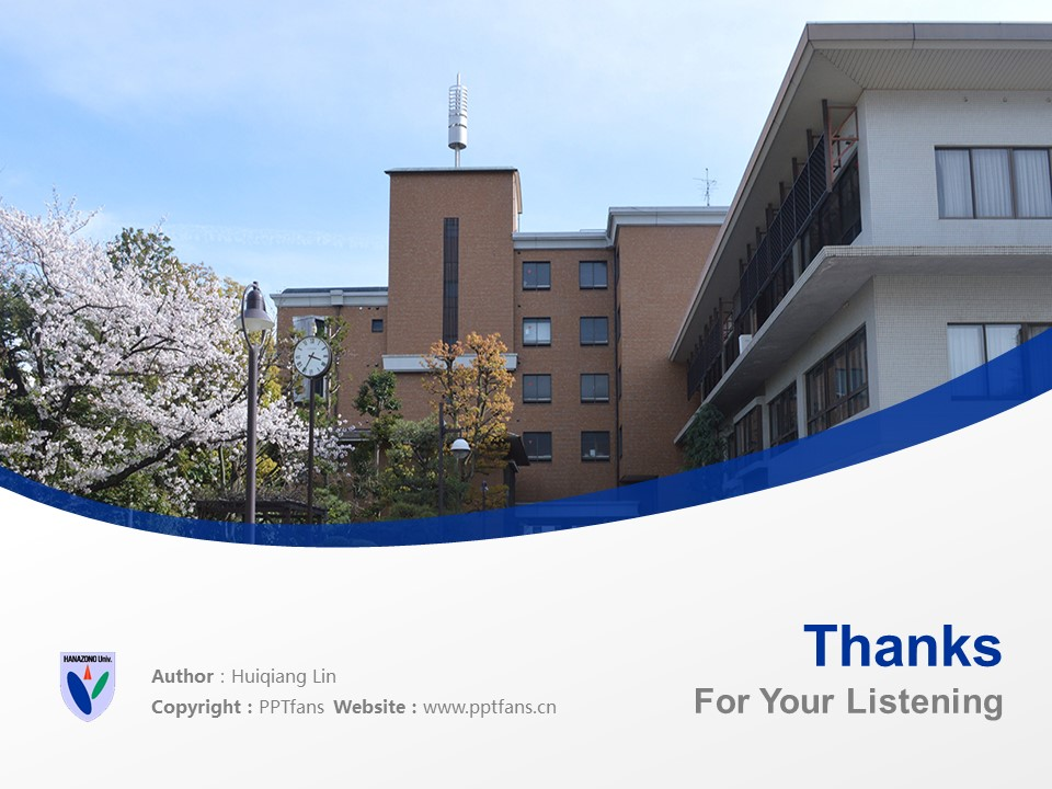 HANAZONO UNIVERSITY Powerpoint Template Download | 花园大学PPT模板下载_slide19