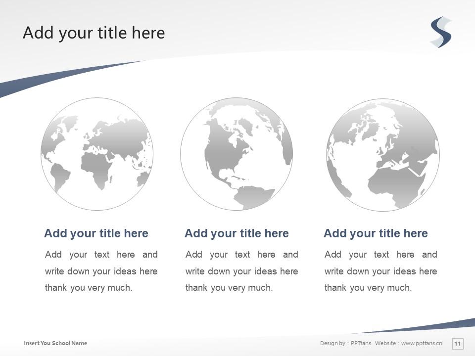 Suzuka International University Powerpoint Template Download | 铃鹿国际大学PPT模板下载_slide11