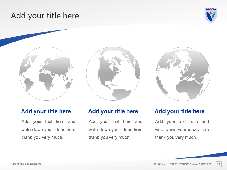 HANAZONO UNIVERSITY Powerpoint Template Download | 花园大学PPT模板下载_slide11