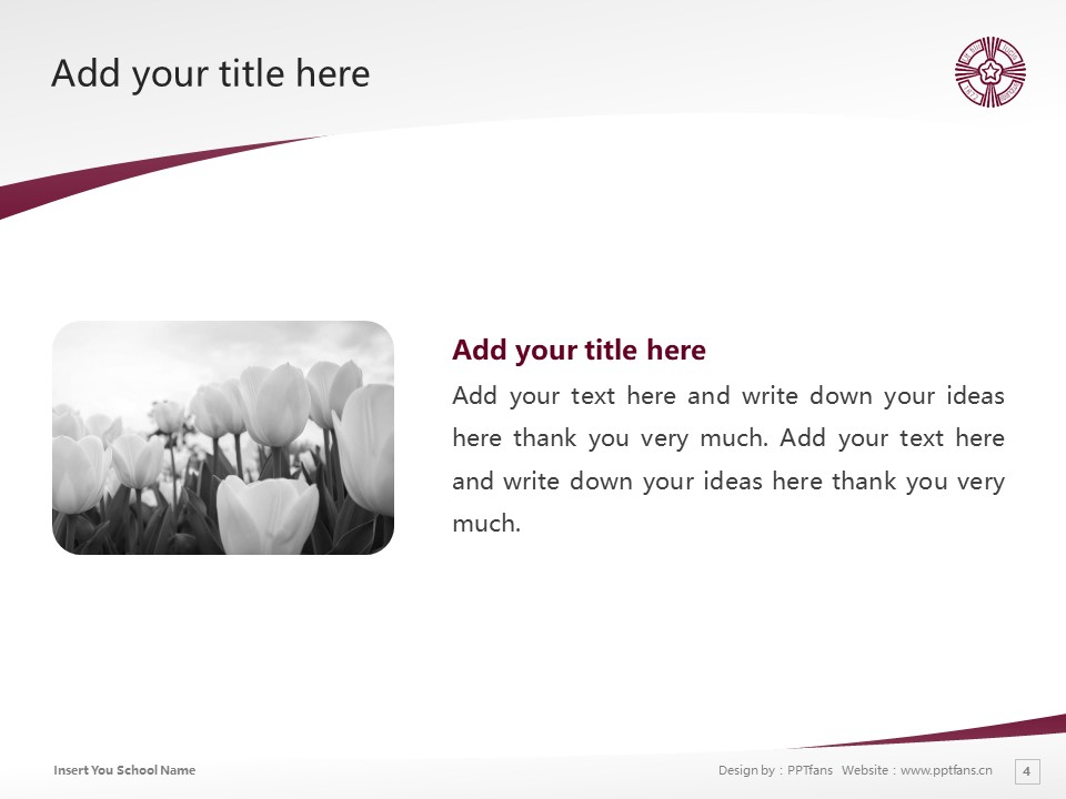 Baiko Gakuin University Powerpoint Template Download | 梅光学院大学PPT模板下载_slide4