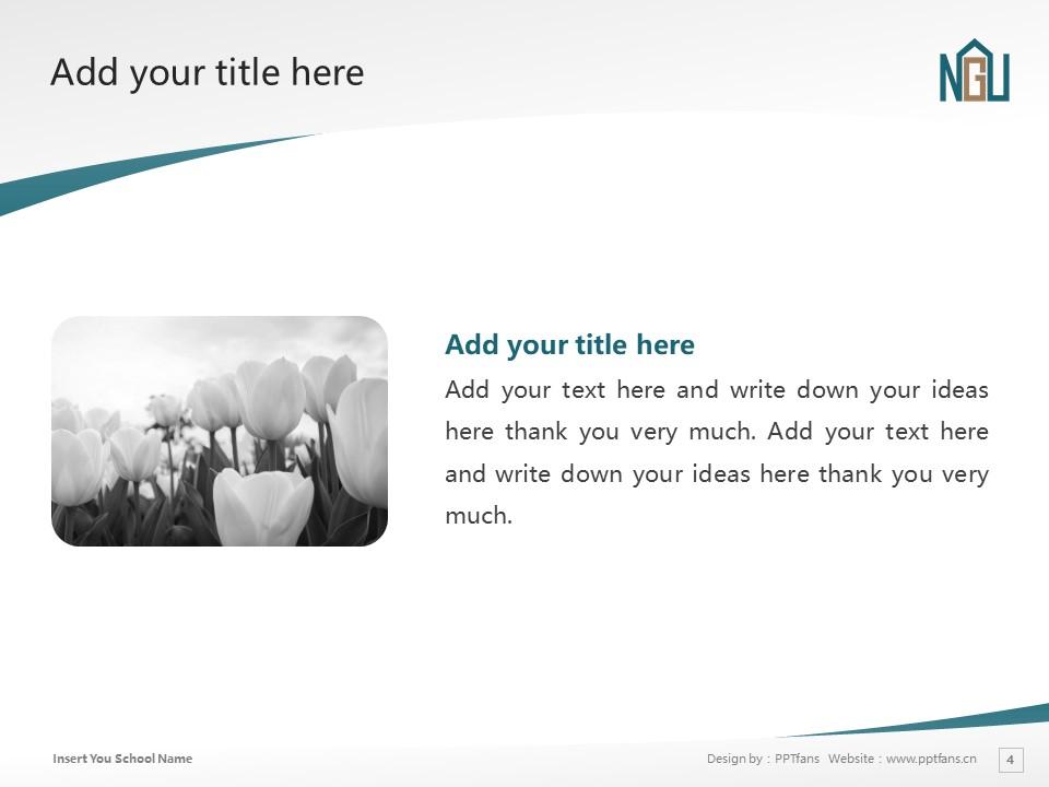 Nagoya Gakuin University Powerpoint Template Download | 名古屋学院大学PPT模板下载_slide4