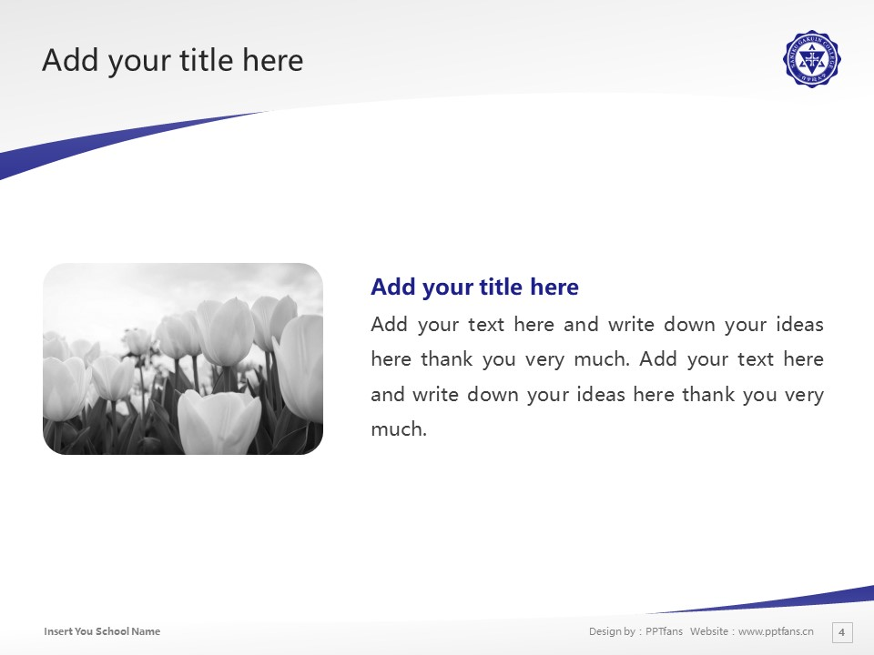 Saniku Gakuin College Powerpoint Template Download | 三育学院大学PPT模板下载_幻灯片4