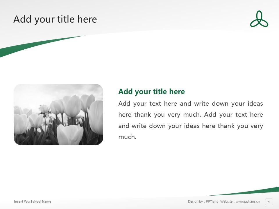 Sanyo Gakuen University Powerpoint Template Download | 山阳学园大学PPT模板下载_slide4