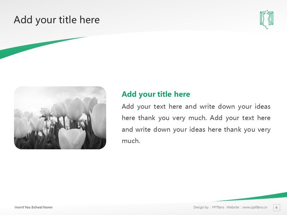 Sugino Fashion College Powerpoint Template Download | 杉野服饰大学PPT模板下载_slide4