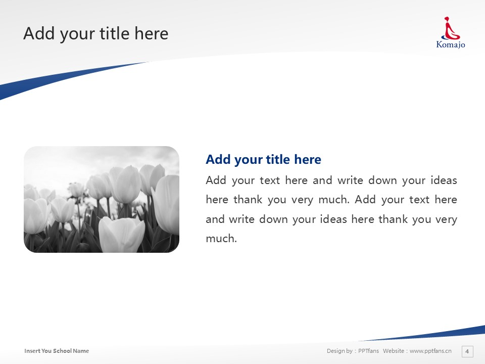 Komazawa Women's University Powerpoint Template Download | 驹泽女子大学PPT模板下载_幻灯片4
