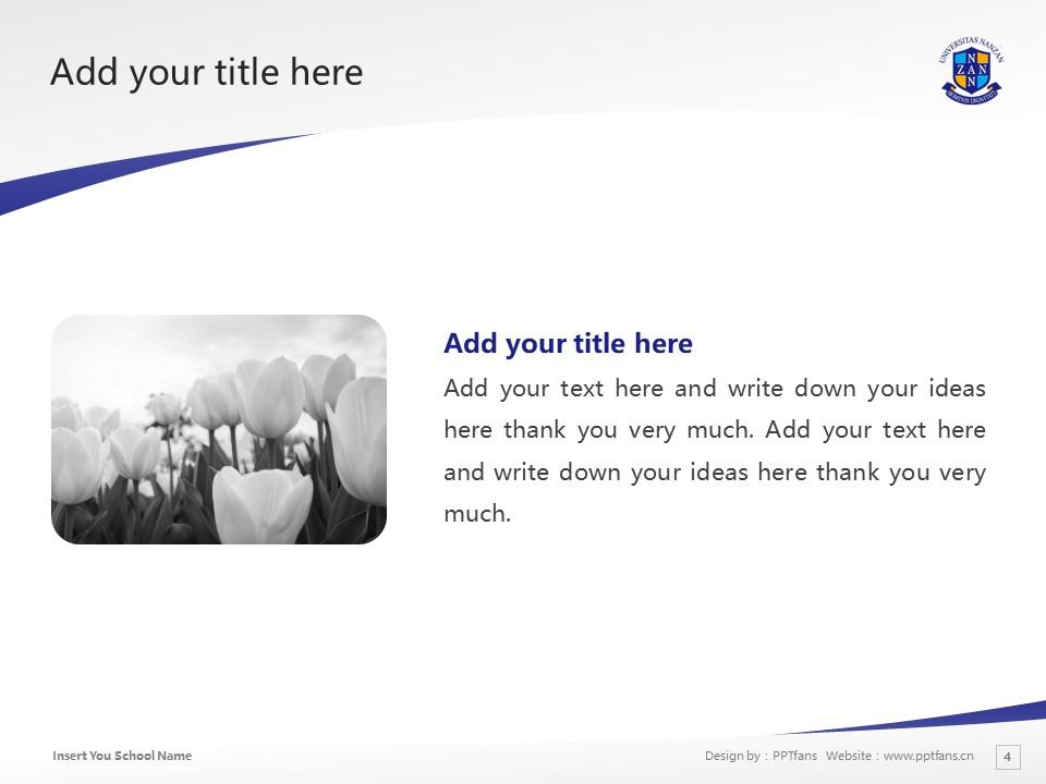 Nanzan University Powerpoint Template Download | 南山大学PPT模板下载_幻灯片4