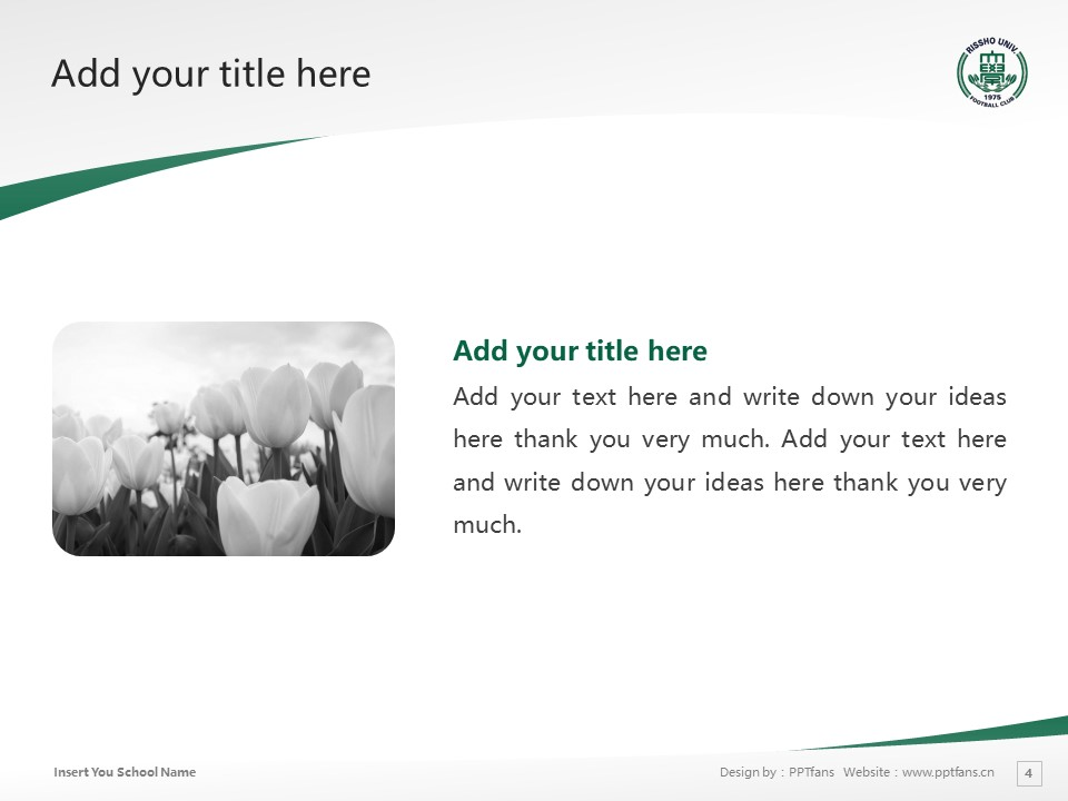Rissho University Powerpoint Template Download | 立正大学PPT模板下载_幻灯片4