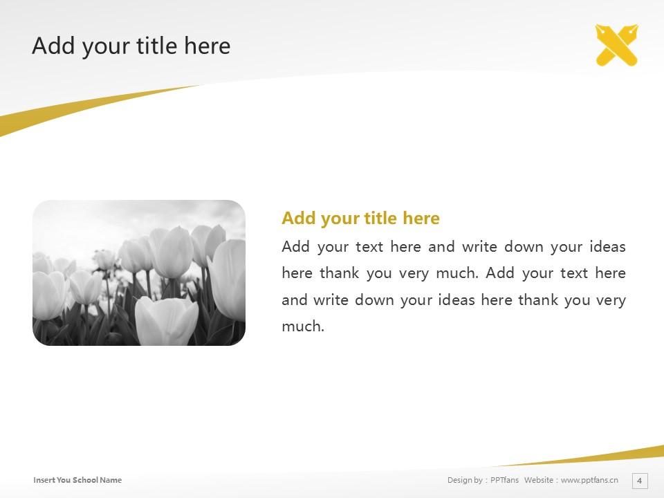 Keio University Powerpoint Template Download | 庆应义塾大学PPT模板下载_幻灯片4