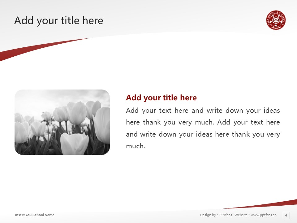 Nara Women's University Powerpoint Template Download | 奈良女子大学PPT模板下载_幻灯片4