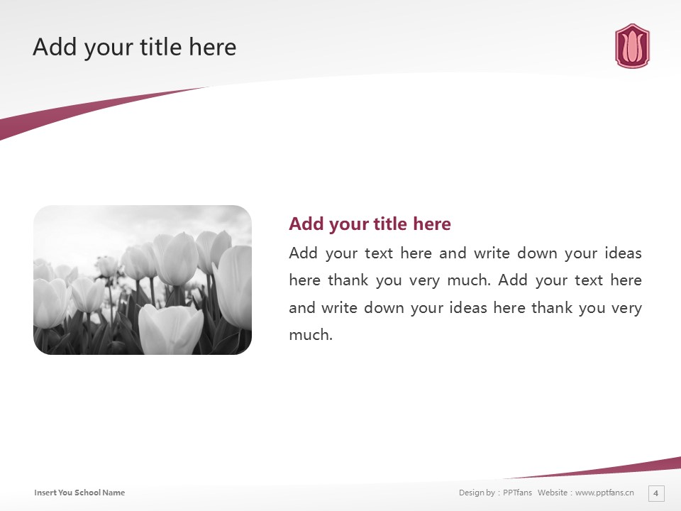 Wayo Women's University Powerpoint Template Download | 和洋女子大学PPT模板下载_幻灯片预览图4