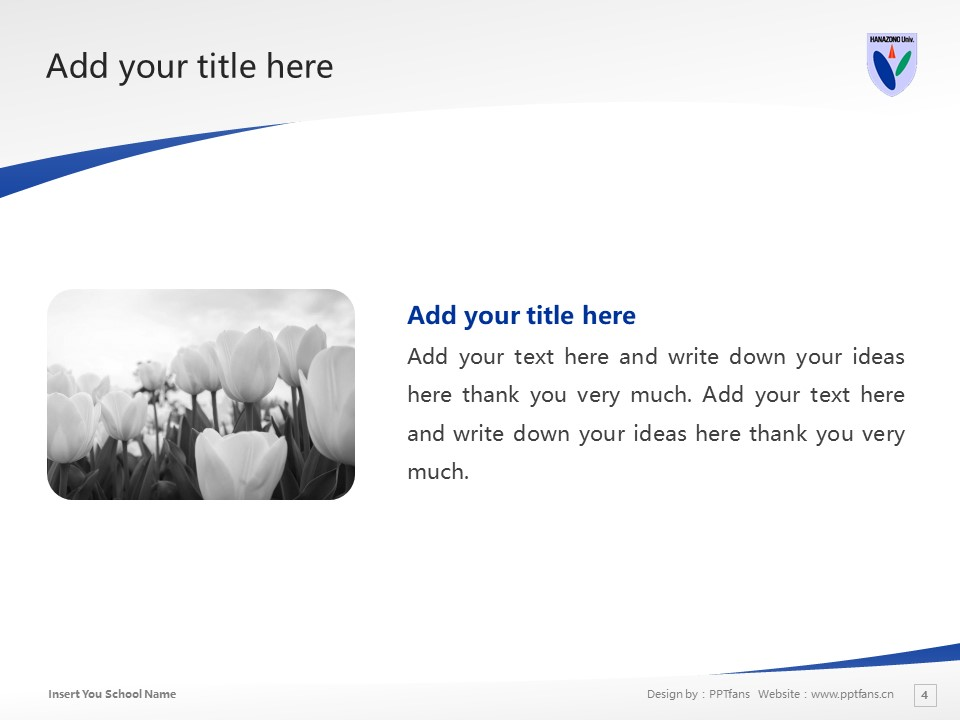 HANAZONO UNIVERSITY Powerpoint Template Download | 花园大学PPT模板下载_幻灯片预览图4