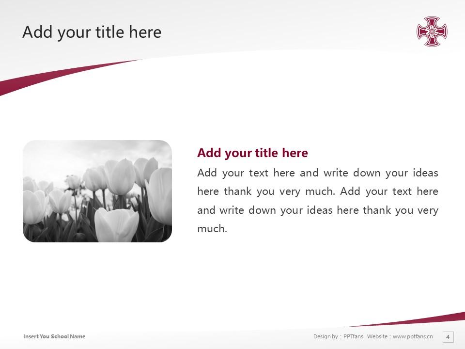Kinjo Gakuin University Powerpoint Template Download | 金城学院大学PPT模板下载_幻灯片预览图4