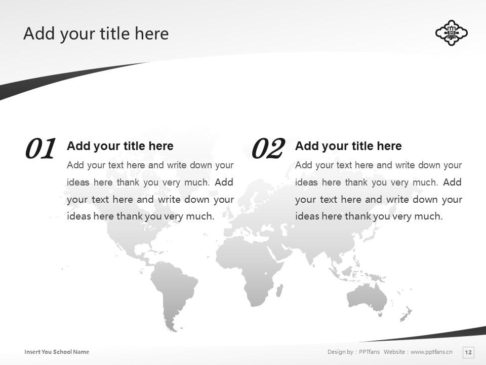 KOGAKKAN UNIVERSITY Powerpoint Template Download | 皇学馆大学PPT模板下载_slide12