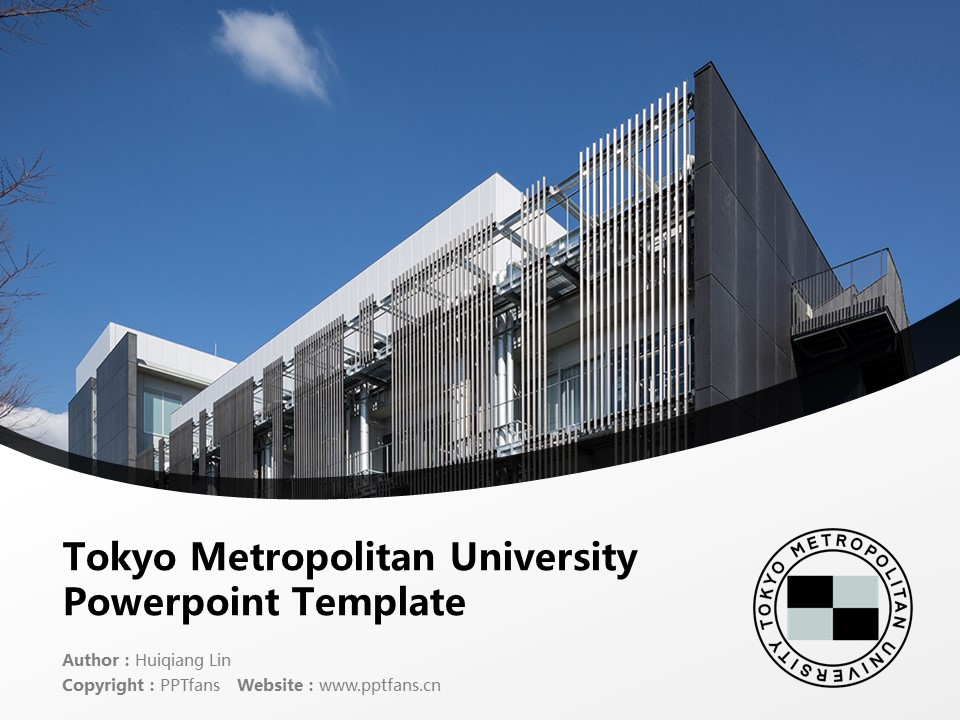 Tokyo Metropolitan University Powerpoint Template Download | 首都大学東京PPT模板下载_slide1