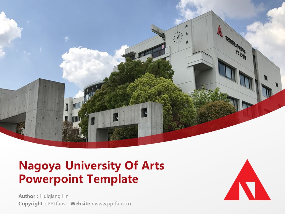 Nagoya University Of Arts Powerpoint Template Download | 名古屋艺术大学PPT模板下载_幻灯片1