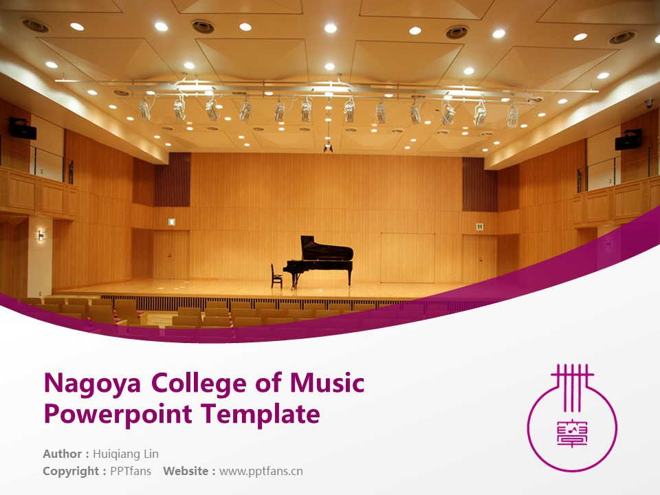 Nagoya College of Music Powerpoint Template Download | 名古屋音乐大学PPT模板下载_slide1