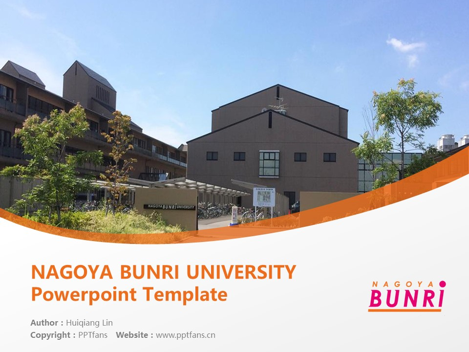 NAGOYA BUNRI UNIVERSITY Powerpoint Template Download | 名古屋文理大学PPT模板下载_幻灯片1