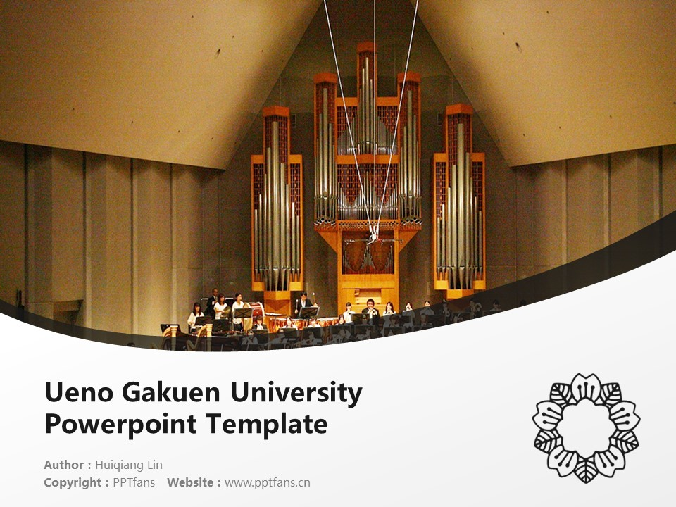 Ueno Gakuen University Powerpoint Template Download | 上野学园大学PPT模板下载_slide1