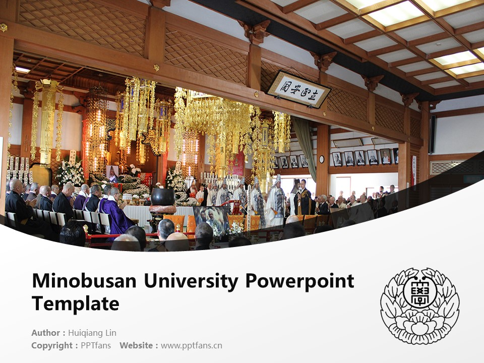Minobusan University Powerpoint Template Download | 身延山大学PPT模板下载_幻灯片1