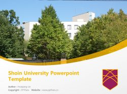 Shoin University Powerpoint Template Download | 松荫女子大学PPT模板下载