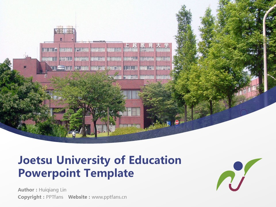 Joetsu University of Education Powerpoint Template Download | 上越教育大学PPT模板下载_幻灯片1