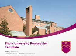 Shoin University Powerpoint Template Download | 松荫大学PPT模板下载